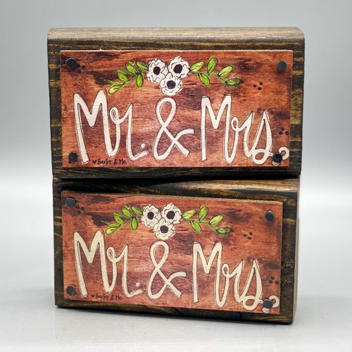 Mr. & Mrs. Wood Happy Block