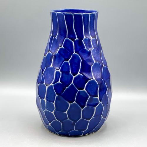 Blue Mosaic Style Vase