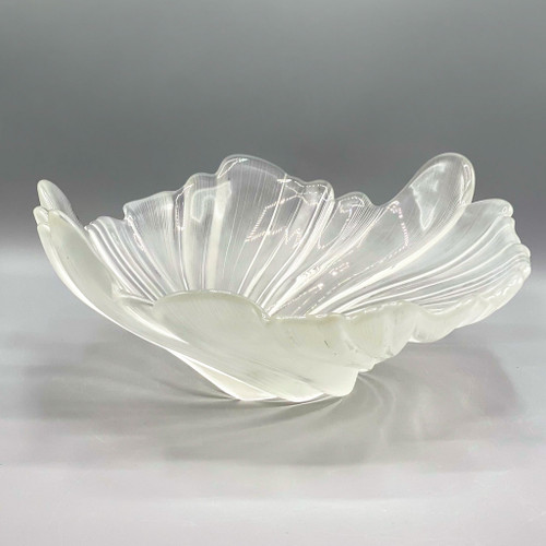 Icy Glass Decorative Bowl