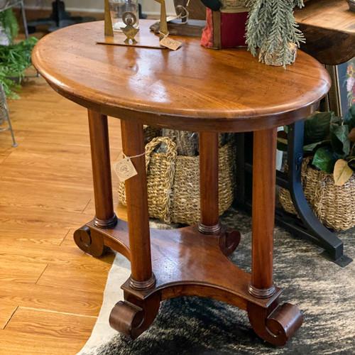 Vintage Wood Oval End Table