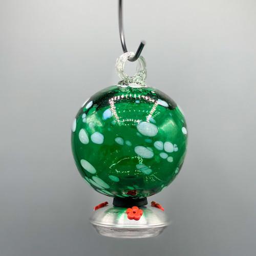 Dew Drop Hummingbird Feeder - Green Polka Dot