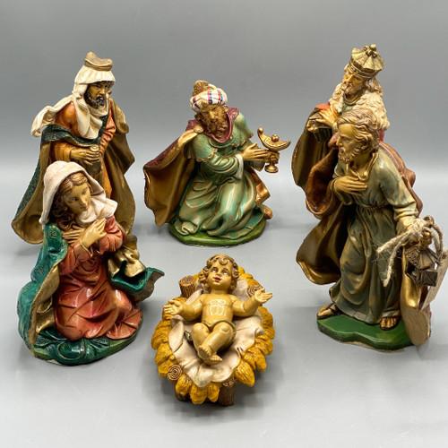 Vintage Fontanini 6 piece Nativity Set, Italy