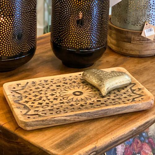 Hand Carved Mango Wood Tray