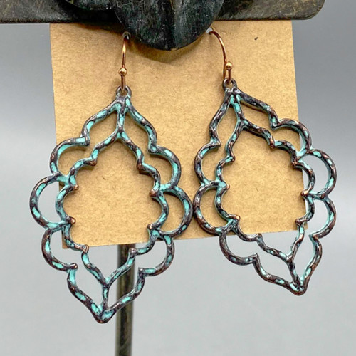 Patina Open Filigree Earrings