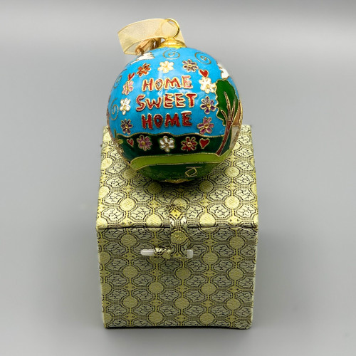 Home Sweet Home Cloisonne Ornament
