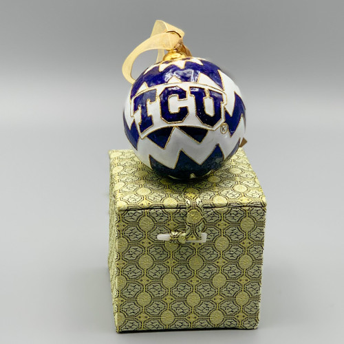 Texas Christian University Cloisonne Ornament