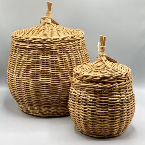 Wicker Basket w/Lid