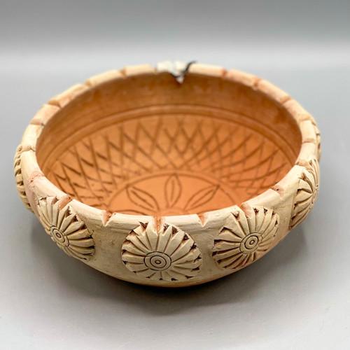 Handmade Engraved Terra Cotta Bowl