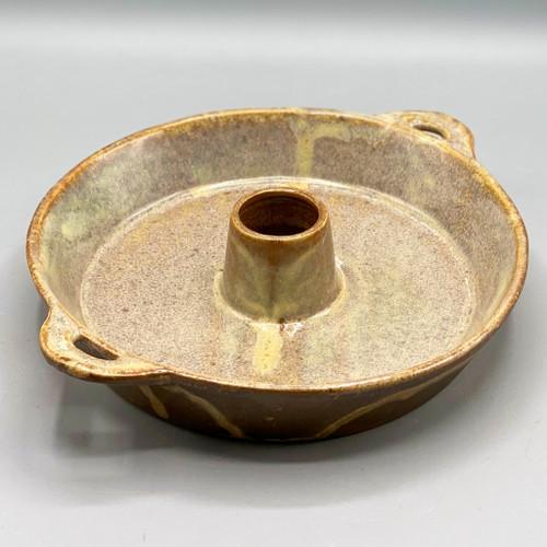 Stoneware Dish w/Toothpick Holder