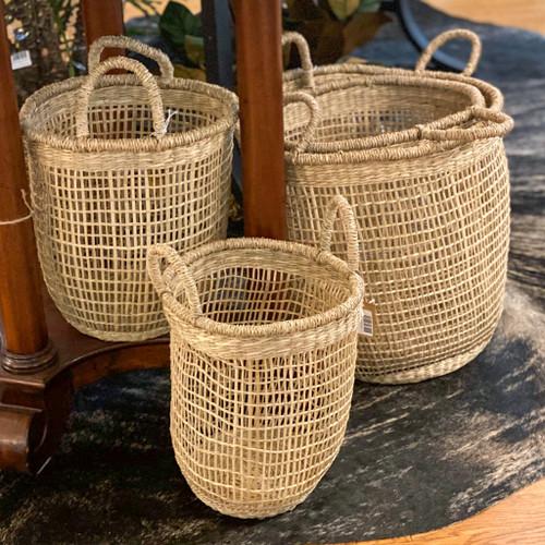 Round Woven Seagrass Basket