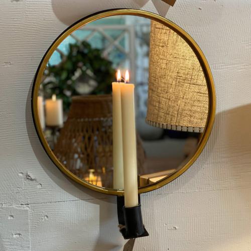 Round Mirror Sconce