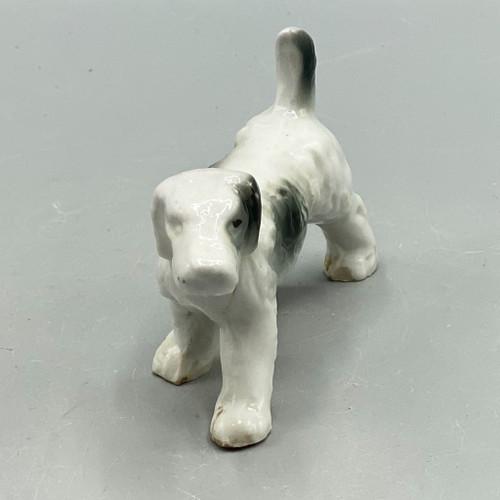 Ceramic White & Black Setter, Japan