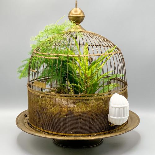 Hendryx Brass Birdhouse with Stand