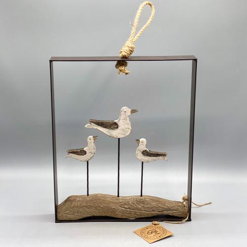 Wood & Metal Framed Gulls