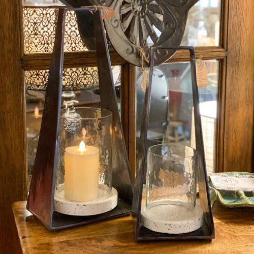 Aluminum Terrazo Lantern