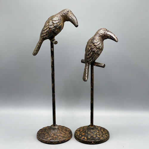 Metal Bird on Stand