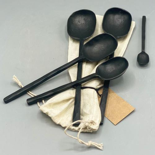 Black Aluminum Spoons
