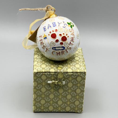 Baby's 1st Christmas Cloisonné Ornament