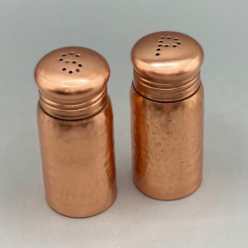 Stainless Steel Salt & Pepper Shakers, Copper Finish