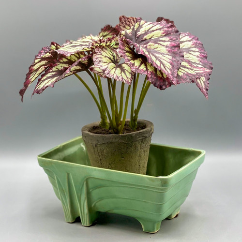 Green Art Deco Planter