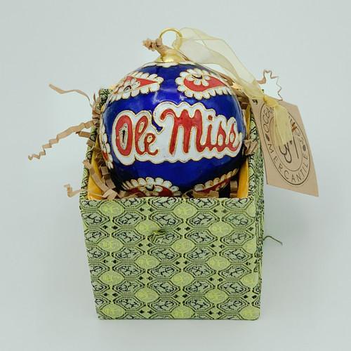 Ole Miss Paisley Cloisonné Ornament