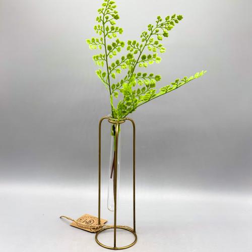 Glass & Metal Test Tube Bud Vase