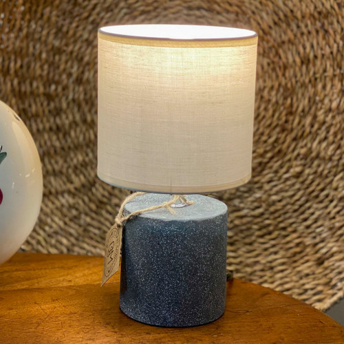 Small Black Cement Table Lamp
