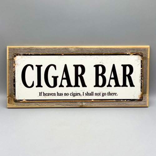 Small Cigar Bar Framed Sign