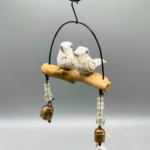 Wind Chimes - 2 Wooden Bird Friends