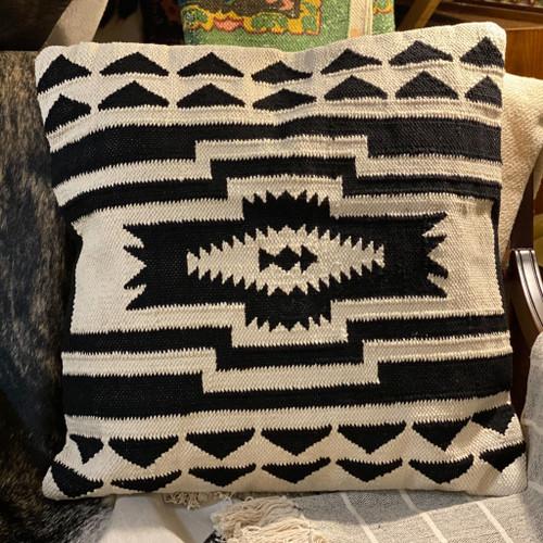 "24"" Square Cotton Kilim Pillow"
