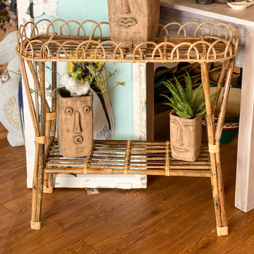 Woven Rattan Table/Plant Stand