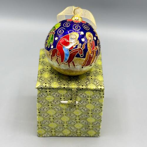 Holy Family Cloisonné Ornament