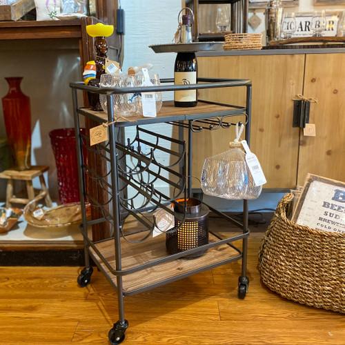 Metal & Wood Wine / Bar Cart