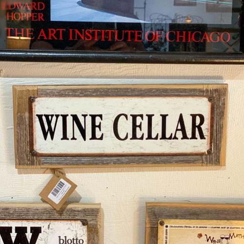 Small Wine Cellar Sign Framed