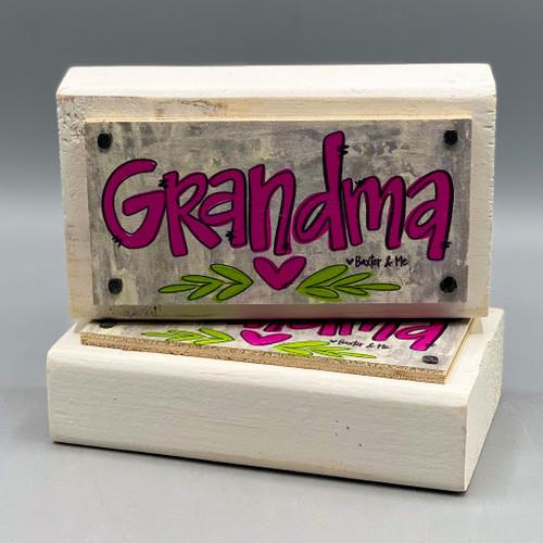 Grandma Happy Block