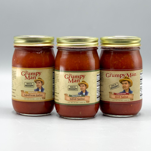 The Grumpy Man Salsa, Mild, Medium & Hot