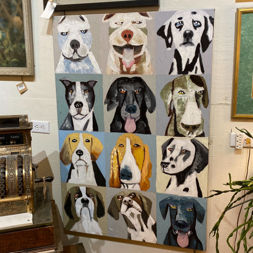 Emotional Dogs Oil Painting