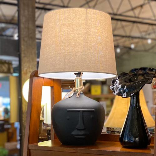 Black Terracotta Face Table Lamp