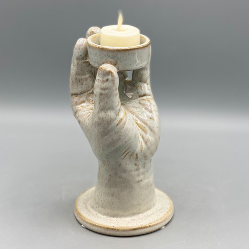 Stoneware Hand Tea Light Holder
