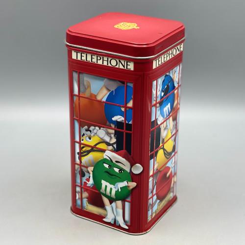 M&Ms Phone Booth #14 Tin 2002 Christmas Village Series