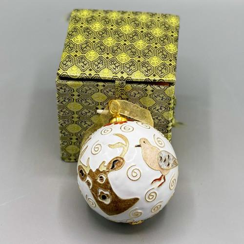 Hunting Cloisonné Ornament