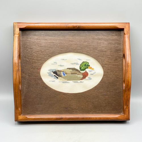 Petit Point Duck Tray