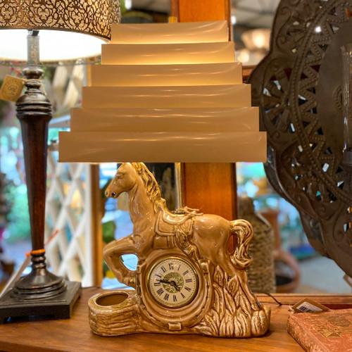 Berkeley, CA Pottery 1950s Carousel TV Lamp