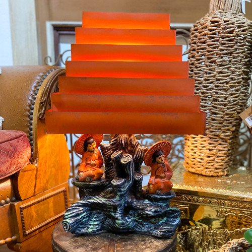 Mid Century Modern Silvestri Lamp with Shade