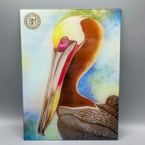 Glass Pelican Cutting Board