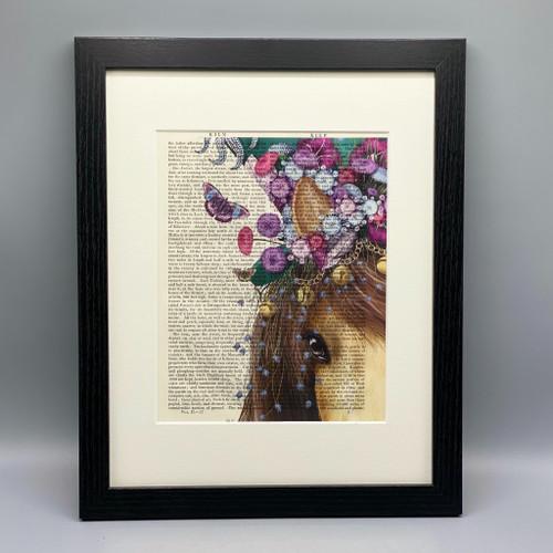 Horse Mad Hatter Framed Book Print
