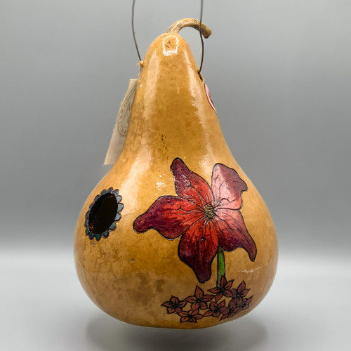 Etched Gourd Bird House