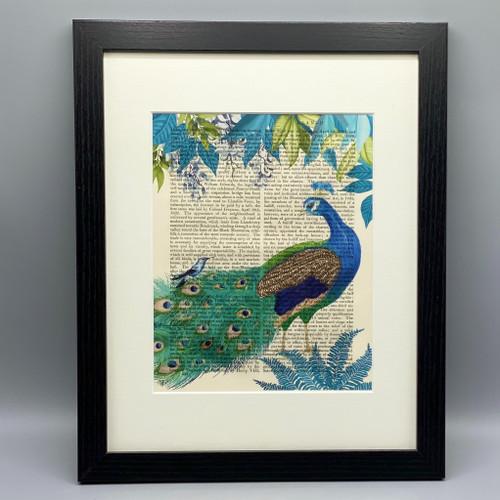 Peacock Garden Framed Book Print