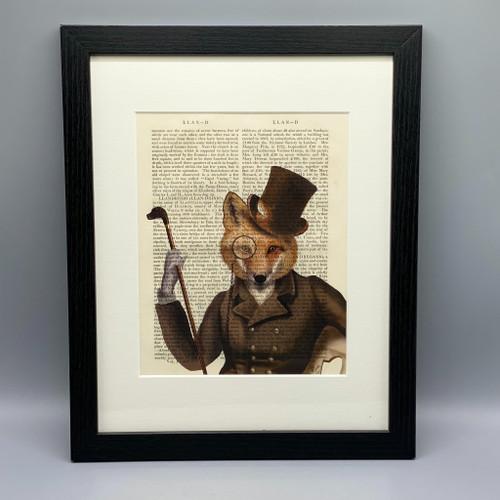 The Bounder Fox Framed Book Print