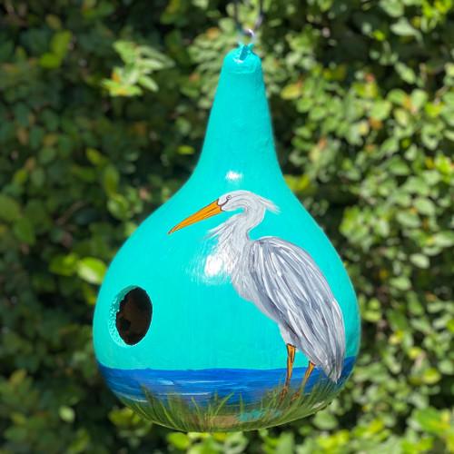 Marsh Heron Gourd Bird House